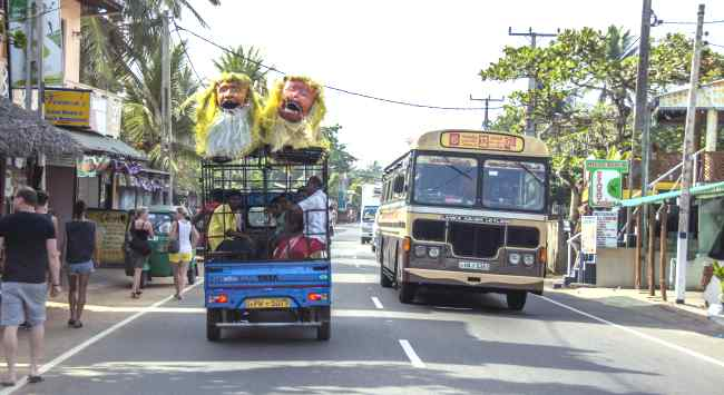 дорожное движение на шри-ланке автобусы